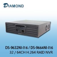 DS-9632NI-I16 / DS-9664NI-I16   32/64CH H.264 RAID NVR