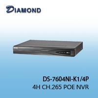DS-7604NI-K1 / 4P 4H H.265 POE NVR