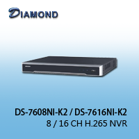 DS-7608NI-K2 / DS-7616NI-K2  8 / 16 CH H.265 NVR