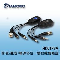 HD01PVA / HD01PV 影像/聲音/電源多合一雙絞線傳輸器