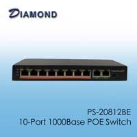 PS-20812B-E 十路千兆POE交換機