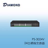 PS-3024V二十四口超高速簡易網管機架型網路交換器