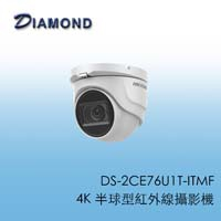 DS-2CE76U1T-ITMF 4K 半球型紅外線攝影機