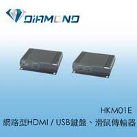 HKM01E 網路型HDMI / USB 鍵盤、滑鼠傳輸器