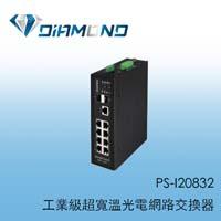 PS-I20832 八埠工業級寬溫網路交換器