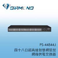 PS-44844J  48口網管型網路供電交換器