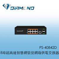 PS-40842D  8埠超高速智慧網管型網路供電交換器