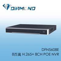 DFN5608E 8百萬 H.265+ 8CH POE NVR