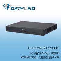 DH-XVR5216AN-I2 16 路5M-N/1080P WizSense 人臉辨識XVR