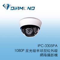 IPC-3305PA 1080P 星光級半球型紅外線網路攝影機