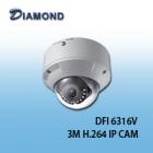 DFI6316V 3M 可變焦 半球型網路攝影機