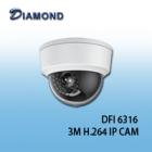 DFI6316 3M 支援POE 防暴半球網路攝影機