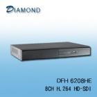 DFH6208HE 8ch 720P HD-SDI DVR
