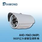 AHD-706D 960P高解析管型紅外線攝影機