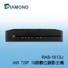 RAS-1613-J AHD 720P/960H 16CH 數位錄影主機