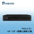 RAS-413-J AHD 720P/960H數位錄影主機
