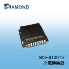 SKV-8100  8 Port 高清專用 Video+1 Port Data光電轉換器