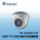 DS-2CE56D1T-IR 1080P TVI HD紅外線半球型攝影機