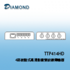 TTP414HD 4路被動式高清影像雙絞線傳輸器