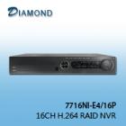 7716NI-E4/16P 16CH RAID NVR 4 HDD+16 POE