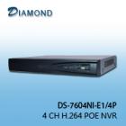 DS-7604NI-E1/4P  4 CH H.264 POE NVR