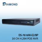 DS-7616NI-E2/8P 16CH NVR 2 HDD+ 8 POE