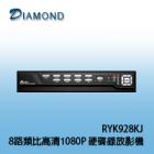 RYK928KJ 8路類比高清1080P 硬碟錄放影機