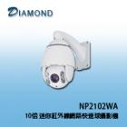 NP2102WA 10x 迷你紅外線網路快速球攝影機