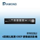 RYK928JJ 4路類比高清1080P 硬碟錄放影機