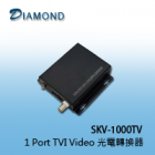 SKV-1000TV  1 Port TVI Video 光電轉換器
