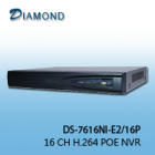 DS-7616NI-E2/16P 16CH NVR 2 HDD+ 16 POE