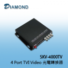 SKV-4000TV  4 Port TVI Video 光電轉換器