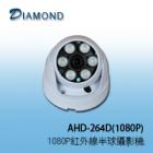 AHD-264D(1080P) 1080P AHD 高解析紅外線半球攝影機