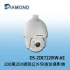 DS-2DE7220IW-AE 200萬畫素20X網路紅外快速球攝影機