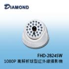 FHD-2824SW 1080P 高解析球型紅外線攝影機