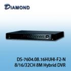DS-7604HUHI-F1/N / DS-7608HUHI-F2/N / DS-7616HUHI-F2/N 8/16/32CH 8M Hybrid安全監控錄影機