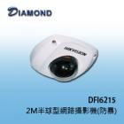 DFI6215 2M H.264 半球型網路攝影機(防暴)