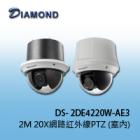 DS-2DE4220W-AE3 2MP 20X網路紅外線PTZ球型攝影機 (室內)