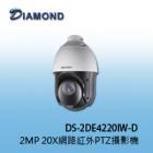 DS-2DE4220IW-DE 2MP 20X網路紅外PTZ球型攝影機