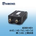 AD001HD1 AHD / HD-TVI / HD CVI 轉 CVBS 之轉換器