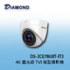 DS-2CE78U8 T-IT3  4K 星光級 TVI 塔型攝影機
