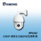 NP6362 1080P 網路型全功能球型紅外線攝影機