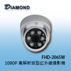 FHD-206SW 1080P 高解析球型紅外線攝影機