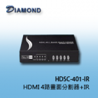HDSC-401-IR HDMI 4路畫面分割器+IR