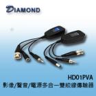 HD01PVA 影像/聲音/電源多合一雙絞線傳輸器