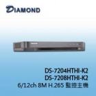 DS-7208HTHI-K2 8M/4K H.265 Hybrid 12ch 安全監控錄影機