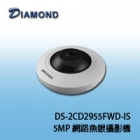DS-2CD2955FWD-IS 5MP網路魚眼攝影機
