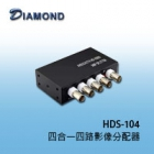 HDS-104 AHD CVI TVI CVBS四路影像分配器