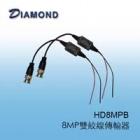 HD8MPB 8MP雙絞線傳輸器