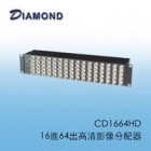 CD1664HD 16進64出高清影像分配器
